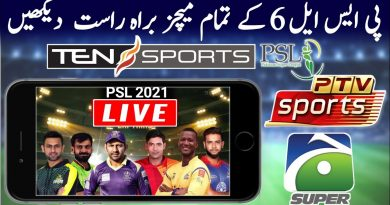 PSL 2021 Live Streaming