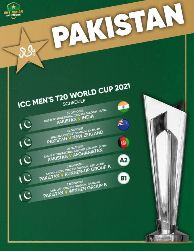 Pakistan's Matches Complete Schedule