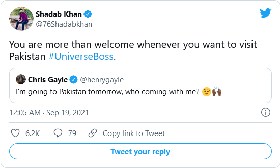 Gayle comes to Pak