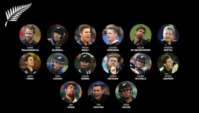 New Zealand Squad For T20 ICC